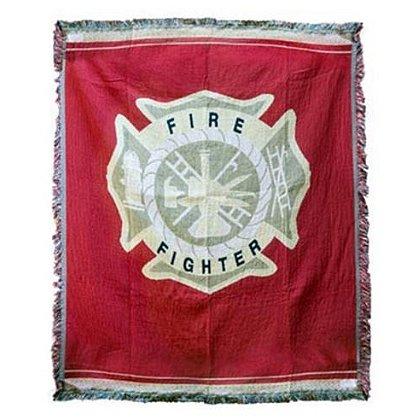 Firefighter Maltese Cross Tapestry Throw