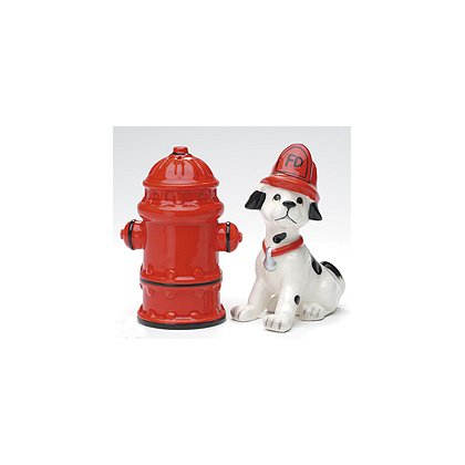 Fire Dalmatian and Hydrant Salt and Pepper Shakers