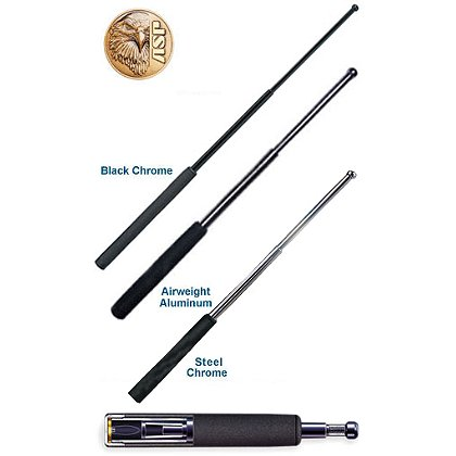 ASP Expandable Baton, Black Chrome Finish, Foam Grip
