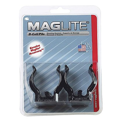 Maglite Universal D-Cell Flashlight Mounting Brackets