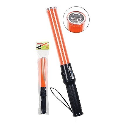 2W Orange High Intensity LED Traffic Baton with Flashlight