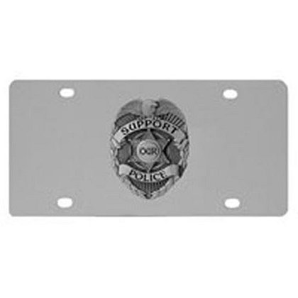 Support Our Police Badge License Plate