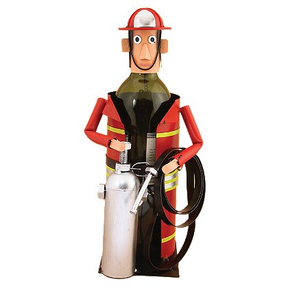 Painted Fireman Wine Caddy