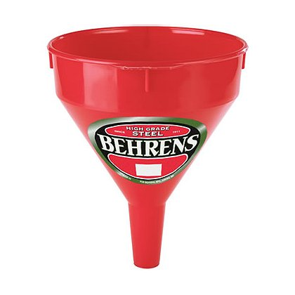 Behrens 2 qt. Red Plastic Funnel