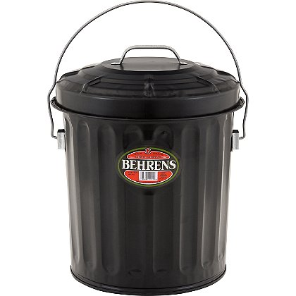 Behrens Black Painted Ash Pail