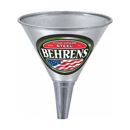 Behrens Galvanized Steel Funnel with Screen
