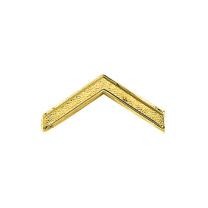 Embossed Private Chevron Collar Brass Pin