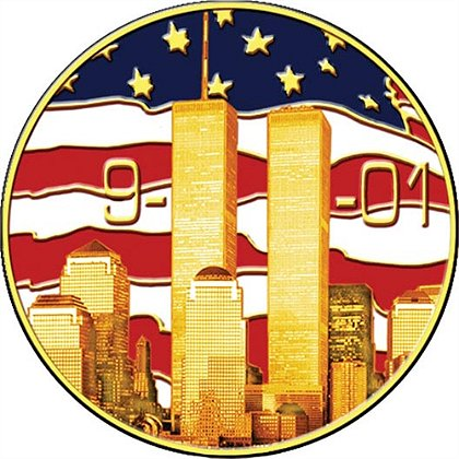 9-11 Twin Towers Remembrance Pin
