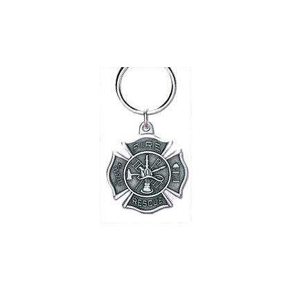 Blackinton Fire-Rescue Keychain, Pewter