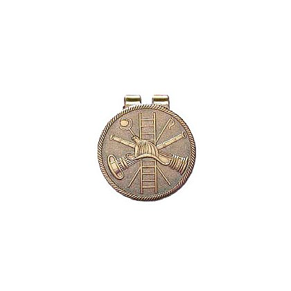 Blackinton Fire Scramble Medallion Money Clip