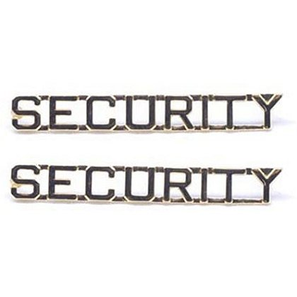 Security Pin with Cut Out Letters