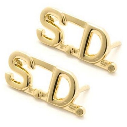 Small SD Cut Out Letters Gold