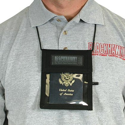Blackhawk Neck ID and Badge Holder, Black