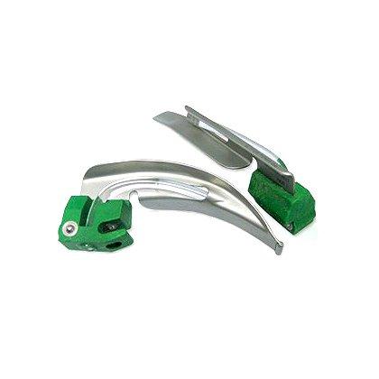BOMImed Disposable Metal Fiber Optic, Plastic Heel, Laryngoscope Blades, Miller Size 1