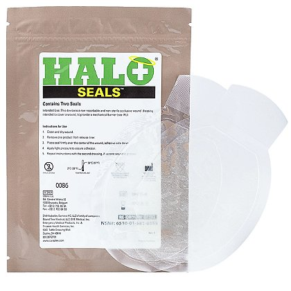 Medical Devices Halo Chest Seal, 2 pack