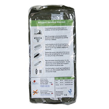 PerSys Medical Blizzard Survival Blanket, Green