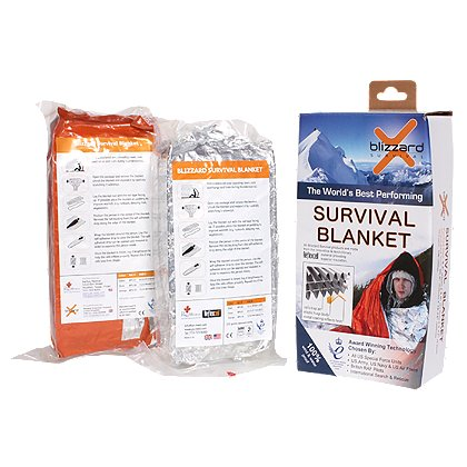 PerSys Medical Blizzard Survival Blanket, Orange