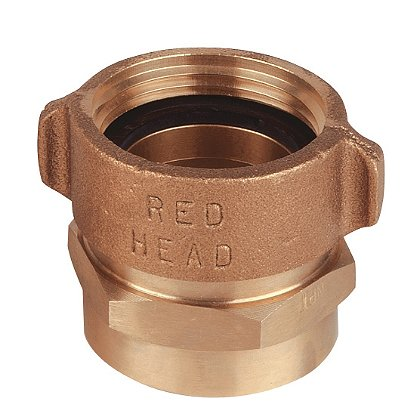 Red Head Brass Style BR53 Brass Female RL Swivel to Rigid female Hex