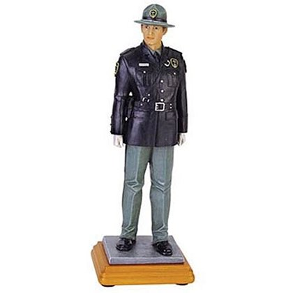Highway Defense Blue Hats of Bravery Statue
