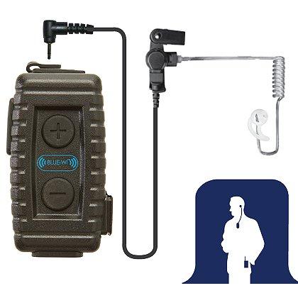 Earphone Connection Nighthawk Bluetooth Lapel Microphone