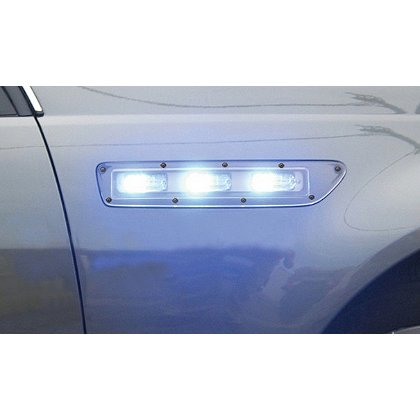Code 3 Side Marker Lights, Chevrolet Caprice, T-Rex LED Lightheads