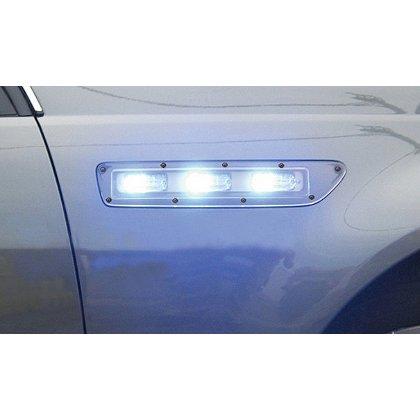 Code 3 Side Marker Lights, Chevrolet Caprice, T-Rex LED Lightheads