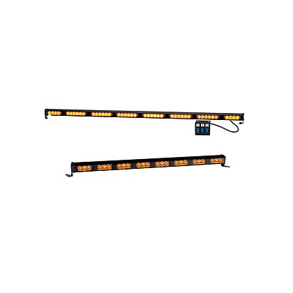 Code 3 XT3 8 Head NarrowStik Warning Light, Amber