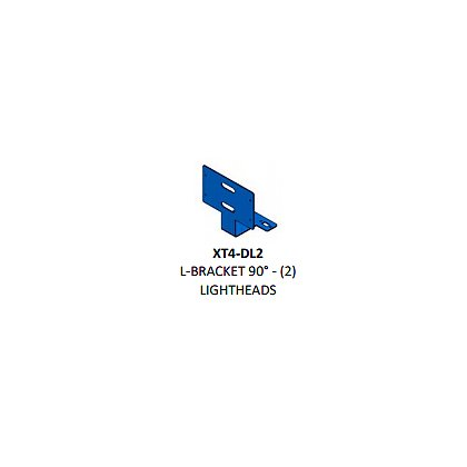 Code 3 90° L shaped bracket universal stacked deck Light (2-XT4)