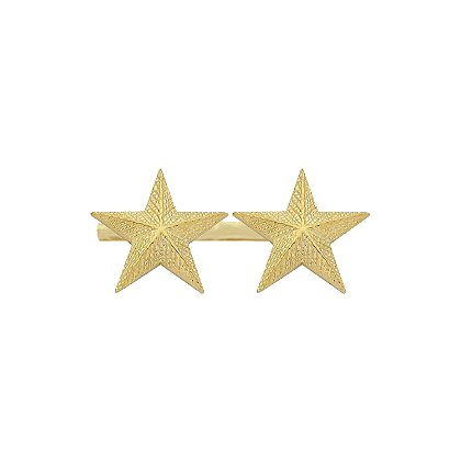 Smith & Warren Two Textured Collar Stars on Bar, 1.94