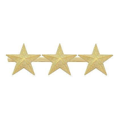 Smith & Warren Three Textured Collar Stars on Bar, 2.91
