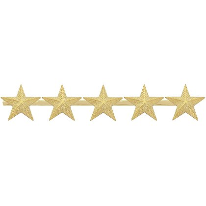 Smith & Warren Five Textured Collar Stars on Bar, 4.85