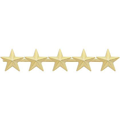 Smith & Warren Five Collar Stars on Bar, 4.7