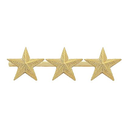 Smith & Warren Three Textured Collar Stars on Bar, 2.64