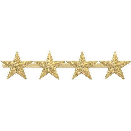 Smith & Warren Four Collar Stars on Bar