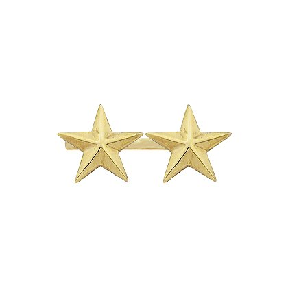 Smith & Warren Two Collar Stars on Bar, 1.56