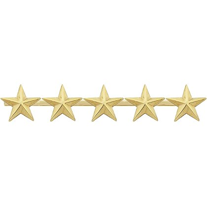 Smith & Warren Five Collar Stars on Bar, 3.9