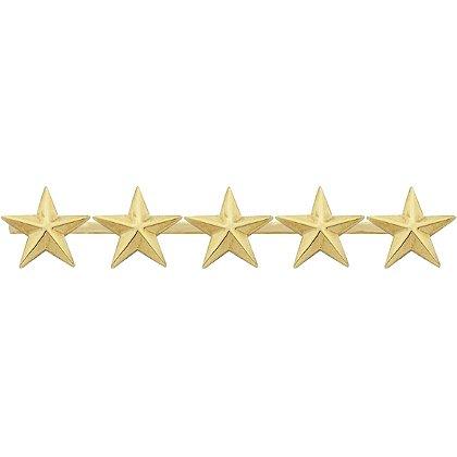 Smith & Warren Five Collar Stars on Bar, 3.9