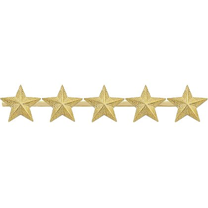 Smith & Warren Five Textured Collar Stars on Bar, 3.25