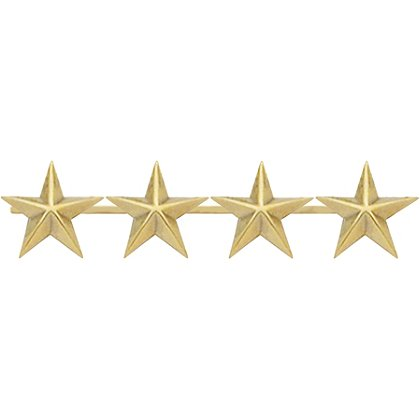 Smith & Warren Four Collar Stars on Bar, 1.8