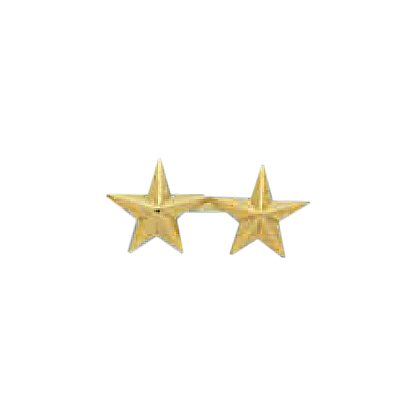 Smith & Warren Two Collar Stars on Bar, .76