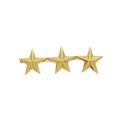 Smith & Warren Three Collar Stars on Bar, 1.14