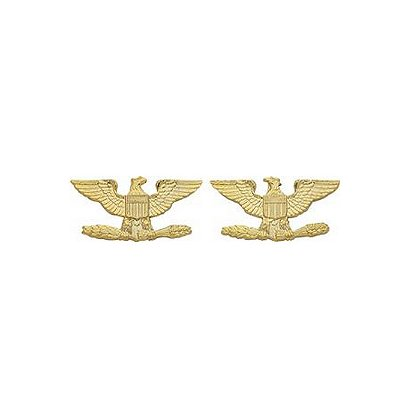 Smith & Warren Colonel Eagle Insignia Pin Set