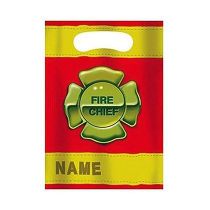 Maltese Cross Fire Chief Party Loot Bag