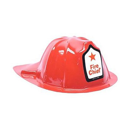 Plastic Fire Chief Jr Firefighter Helmet