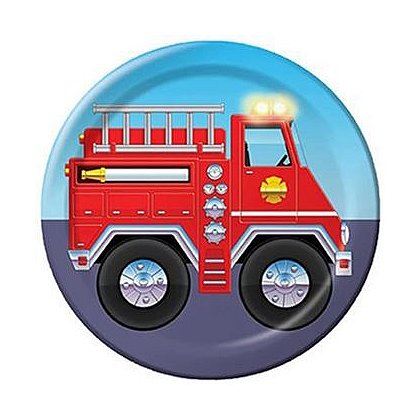 Fire Truck Party Plates