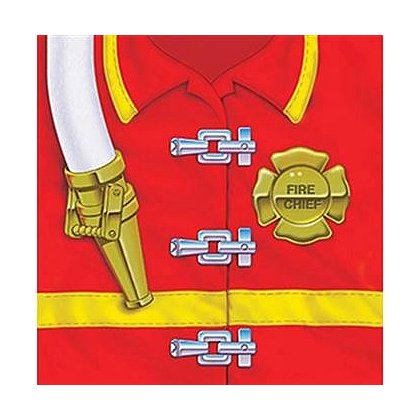 Fire Chief Coat Beverage Napkins
