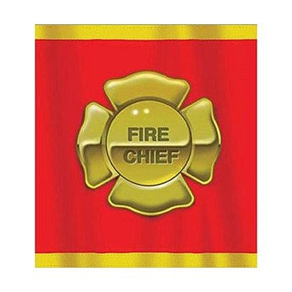 Fire Chief Maltese Cross Plastic Table Cover