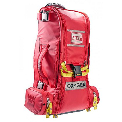 Meret RECOVER PRO O2 Response Bag TS2 Ready, Red Infection Control, Double Cylinder