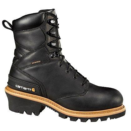 """Carhartt Men's 8"""" Logger Waterproof Climbing Boots"""