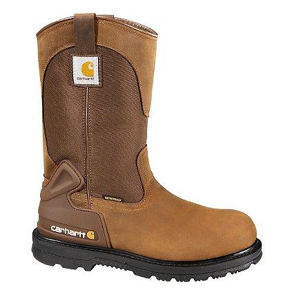 """Carhartt Men's 11"""" Bison Brown Waterproof Wellington Boots"""